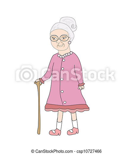 old lady vector illustration clip art vector search drawings and rh canstockphoto com old girl clipart little old lady clipart
