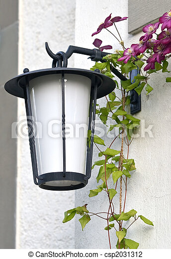 Old lamp on the wall - csp2031312