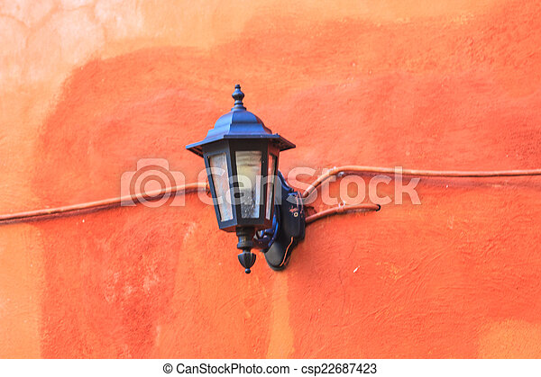 old lamp on the wall - csp22687423
