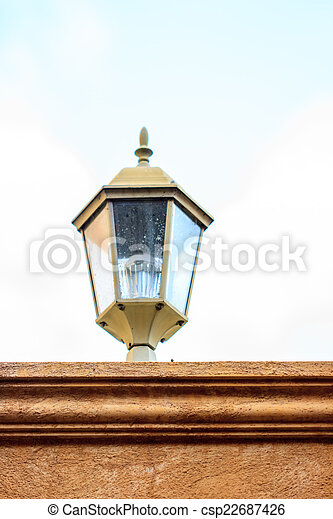 old lamp on the wall - csp22687426