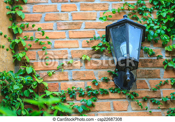 old lamp on the wall - csp22687308