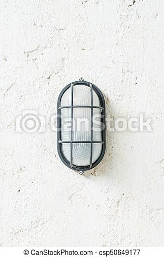 old lamp on wall - csp50649177