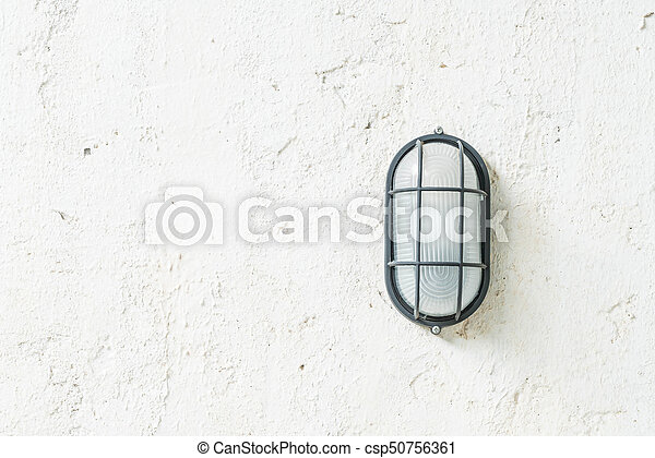 old lamp on wall - csp50756361