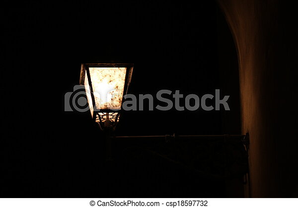 old lamp - csp18597732