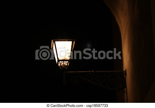 old lamp - csp18597733