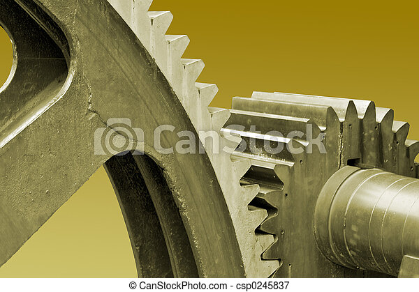 Old large gears - csp0245837