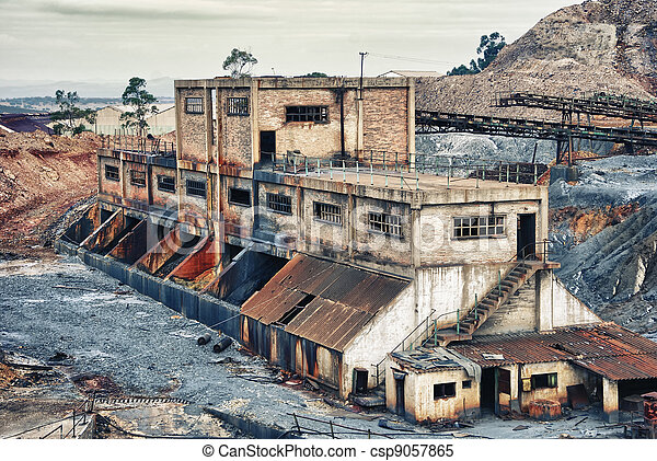 Old large mining industry - csp9057865