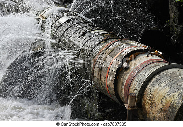 Old Leaking Pipe - csp7807305