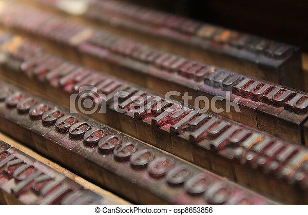 old letterpress - csp8653856