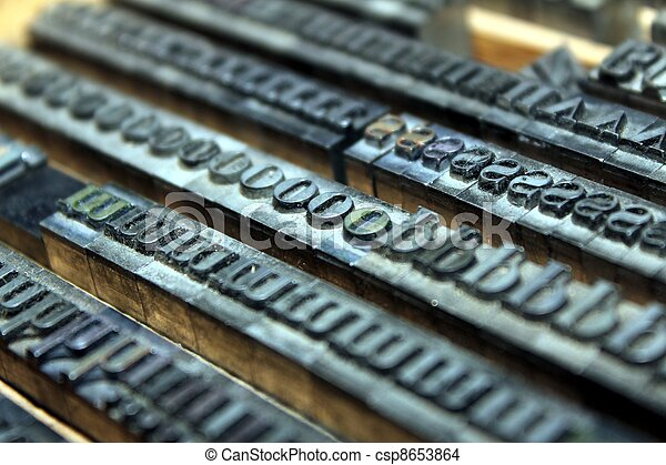 old letterpress - csp8653864