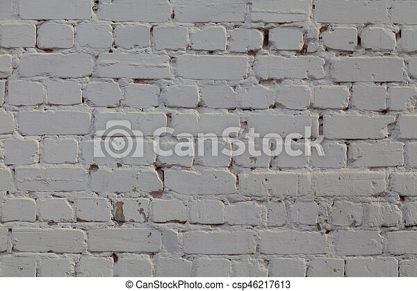 old light brick wall background texture - csp46217613