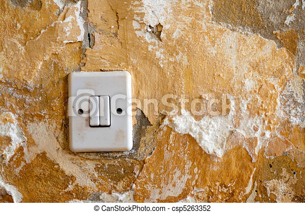 Old light switch - csp5263352