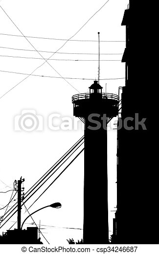 Old Lighthouse, Beirut - csp34246687