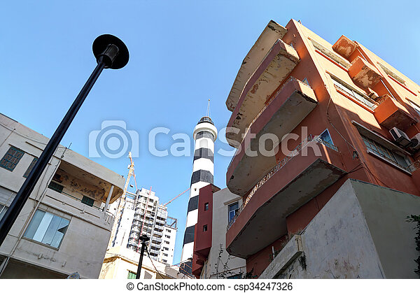 Old Lighthouse, Beirut - csp34247326