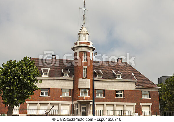 Old lighthouse in Dunkirk - csp64658710