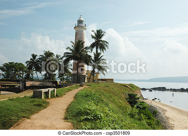 Old lighthouse in Galle,Ceylon - csp3501809
