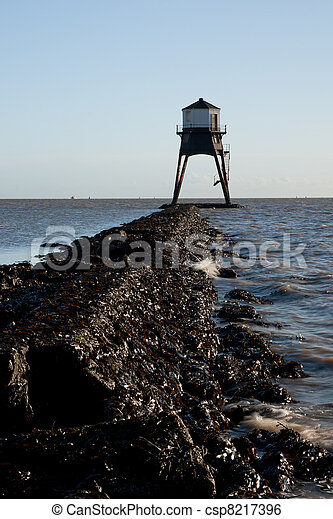 Old Lighthouse in the UK - csp8217396