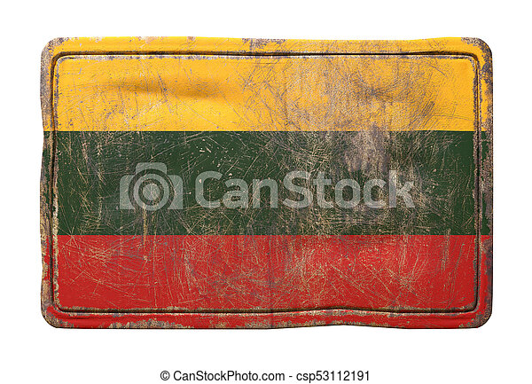 Old Lithuanian flag - csp53112191