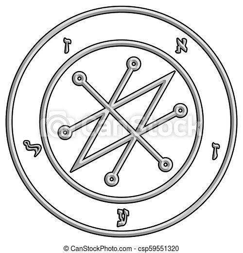 Old magic symbol to call of azazel