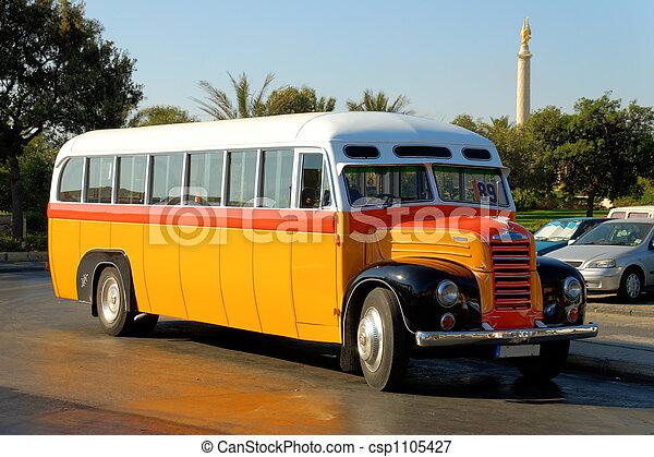 Old Maltese Bus (1952) - csp1105427