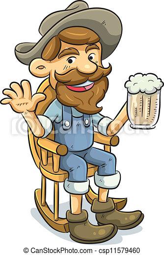 cartoon illustration of old man drinking a beer clip art vector rh canstockphoto com clipart drinking fountain clipart drinking coffee