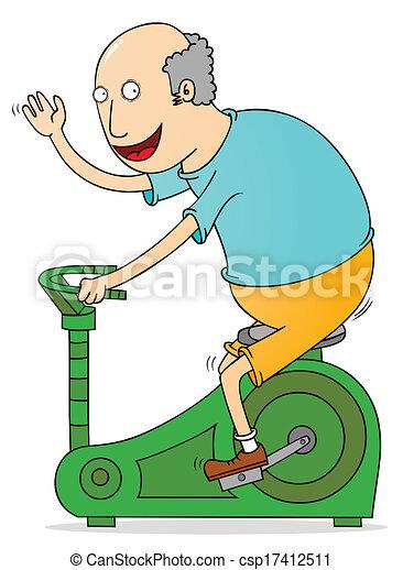 old man exercising - csp17412511