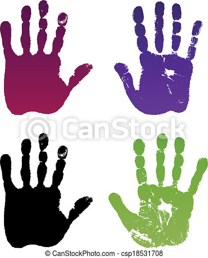 Old man four hand prints - csp18531708