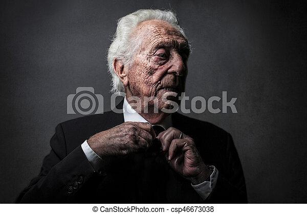 Old man in suit in studio old man in suit csp46673038 publicscrutiny Images
