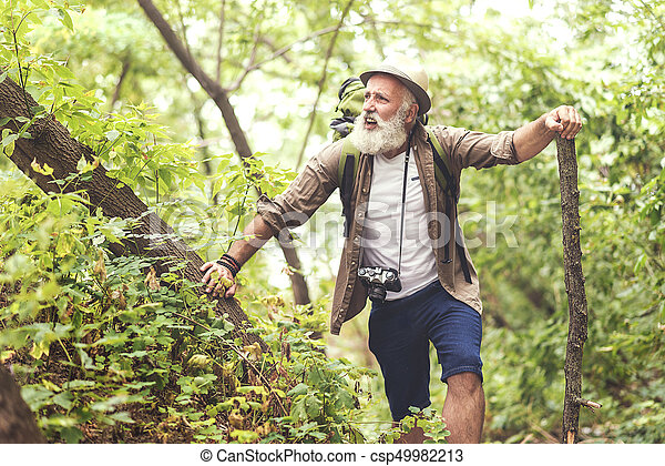 Old Man In Forest
