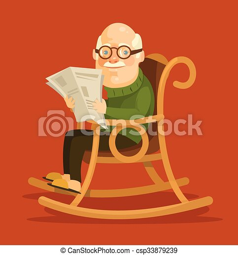 Swell Old Man Sitting In Rocking Chair Squirreltailoven Fun Painted Chair Ideas Images Squirreltailovenorg