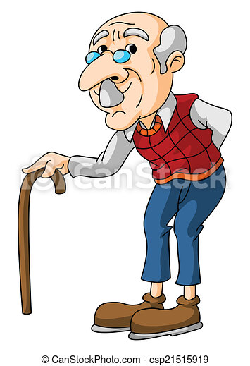 old man rh canstockphoto com Disney's Up Old Man old person clipart free