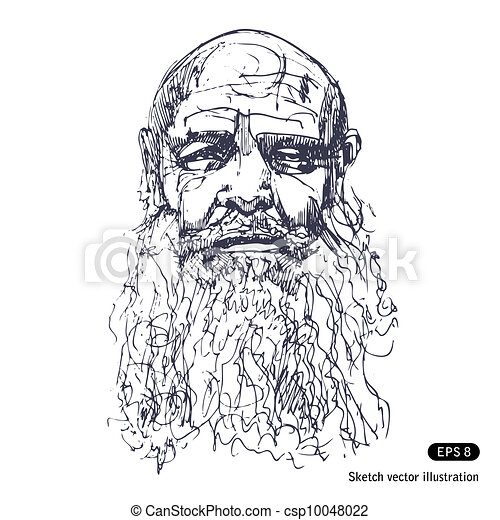 Old man with a beard. ...
