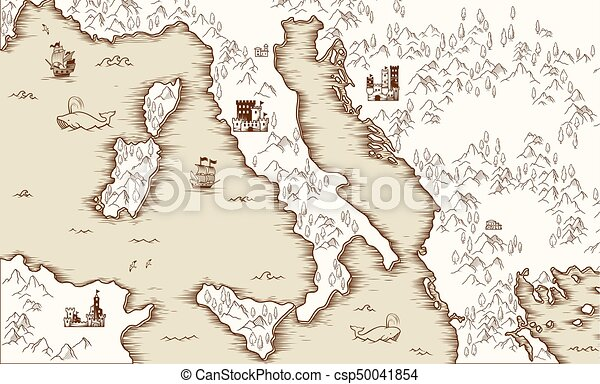 Old map of italy medieval cartography vector illustration old map of italy medieval cartography vector illustration gumiabroncs Choice Image