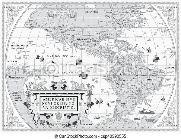 Old Map Of South And North America In Jpg Good Resolution