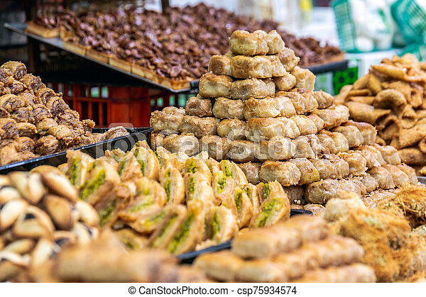 Old market Jerusalem - csp75934574