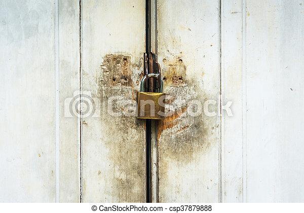 Old master key rustry in soft light - csp37879888