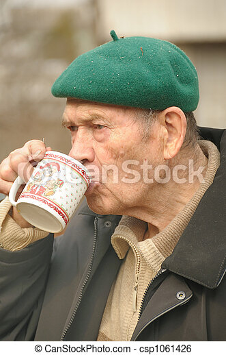 old men drinking - csp1061426