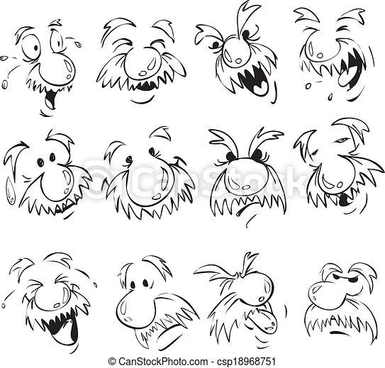 Old Men Facial Expression - csp18968751