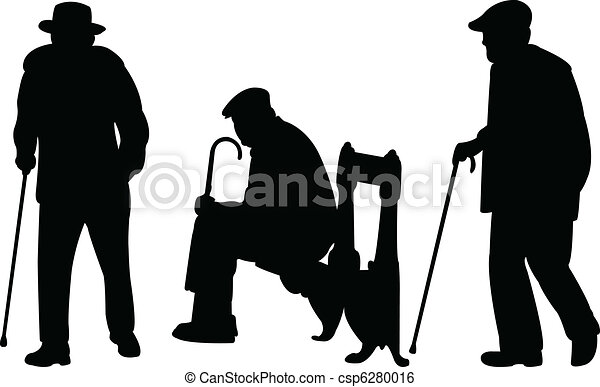 Old men with cane - csp6280016