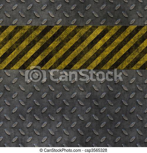 Old Metal Hazard Background