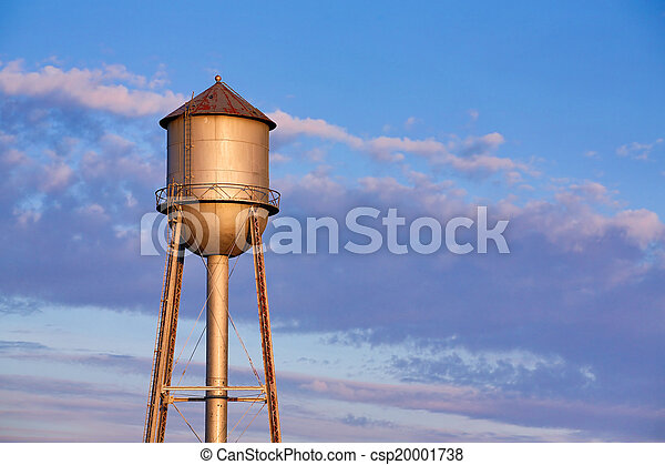 Old Metal Water Tower