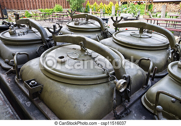 Old military mobile kitchen - csp11516037