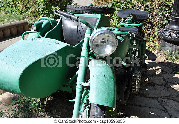 Old military motorcycle - csp10596055