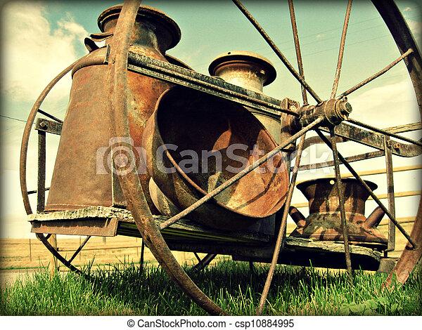 Old Milk Wagon - csp10884995