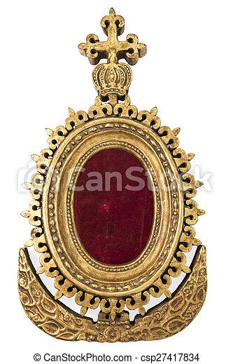 Old Mirror Frame - csp27417834