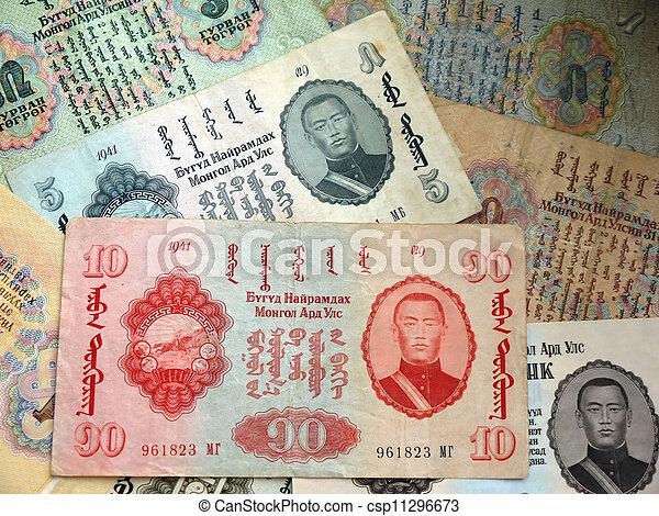 Old money of Mongolia - csp11296673