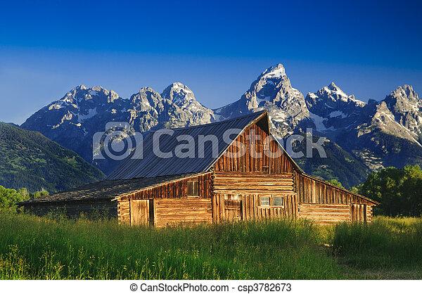 Old Mormon Barn in the Tetons - csp3782673