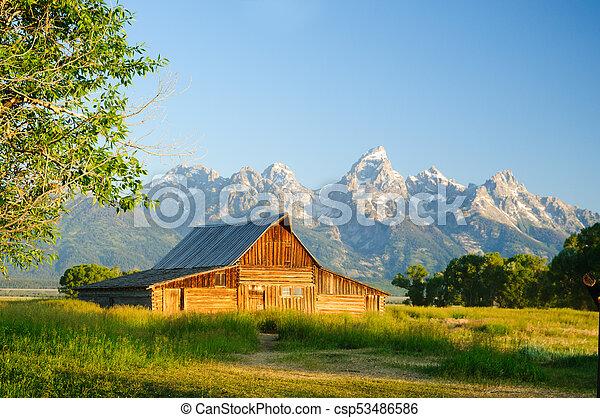 Old Moulton barn in Teton National park - csp53486586