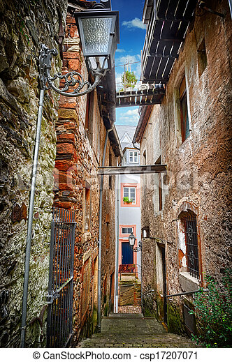 Old narrow street - csp17207071