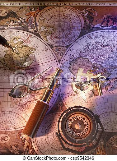 Old nautical map - csp9542346